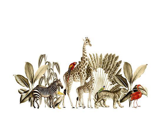 Jungle afbeelding voor bohemien interieur
