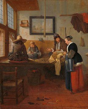 L'atelier du tailleur, Quiringh Gerritsz. van Brekelenkam sur