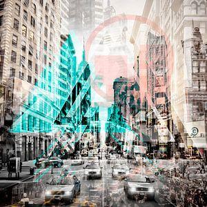 New York City | Geometric Mix No. 3 van Melanie Viola