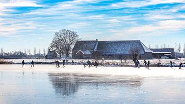 Schaatsen op de Zwaakse Weel van Fotografie in Zeeland