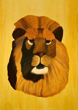Leeuw portret van Iris Heuer