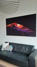 Klantfoto: Antelope Canyon van Sander Wustefeld, op print op doek