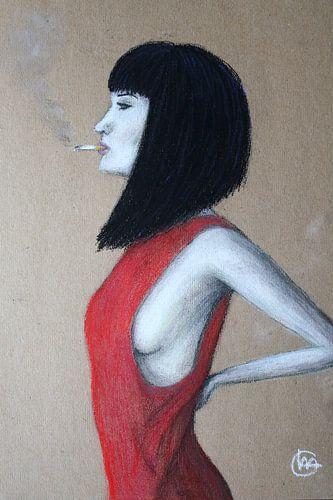 Red Dress van Claudia Maglio