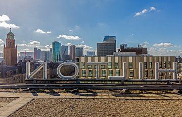 La vue depuis le toit de l'Hôtel Hilton à Rotterdam sur MS Fotografie | Marc van der Stelt