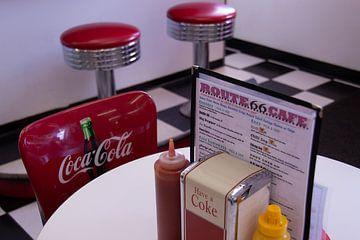 Amerika cafe aan Route 66 van Edith Wijte
