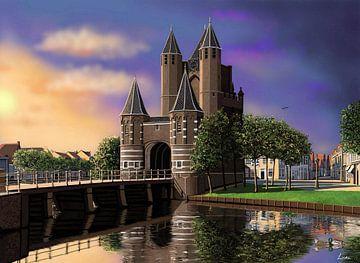 Amsterdamse Poort in de zomer van Linda van Kleef