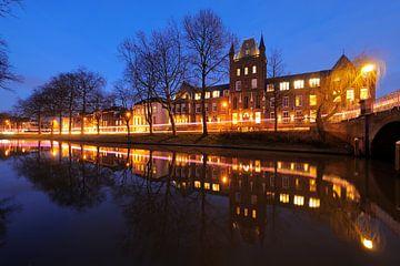 Maliesingel met Hiëronymushuis in Utrecht sur Donker Utrecht