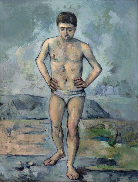 Paul Cézanne - Le Grand Baigneu van 1000 Schilderijen