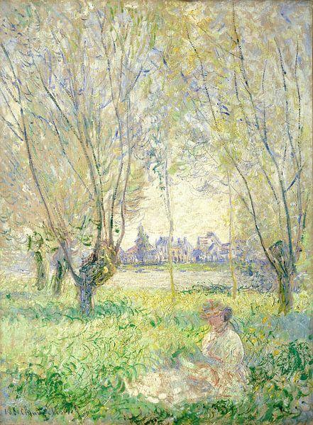Woman Seated under the Willows  van Rebel Ontwerp