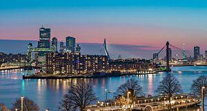 Rotterdam icons at sunset van