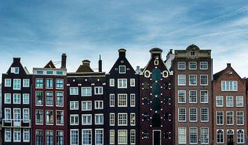 Grachtenpanden van het Damrak van Richard Steenvoorden