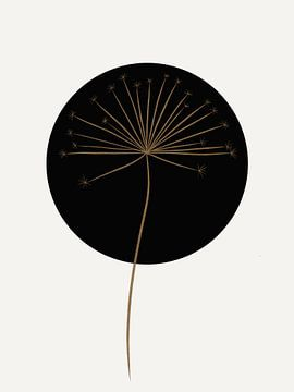 Hogweed - Moderne Kunst - Schwarz und Gold von Studio Malabar