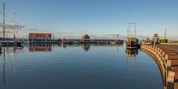 De haven  van Hindeloopen op een stille winterdag van Harrie Muis