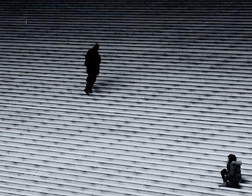 Trappen Grande Arche in La Défense