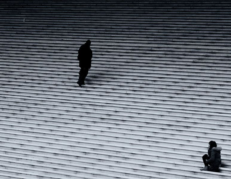 Trappen Grande Arche in La Défense van Roy Coumans