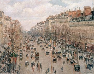 Boulevard Monmartre in Paris, Camille Pissarro sur