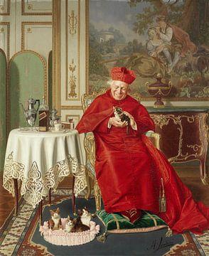 De favoriet van de kardinaal, Andrea Landini - laat 19e eeuw