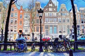 Amsterdamer Stadtzentrum im Winter von Hendrik-Jan Kornelis