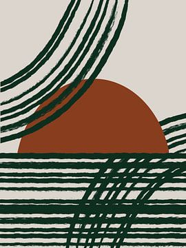 Zonsopkomst - Moderne abstracte vormen van Studio Malabar