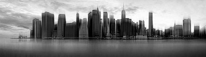 New York City Skyline van Wim Schuurmans