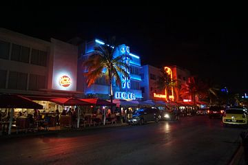 Kleurrijke avond in Miami Beach van Nynke Nicolai
