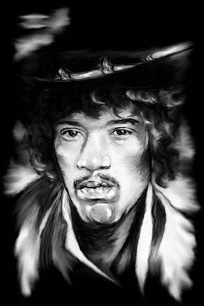Jimi In Black And White von Gitta Gläser