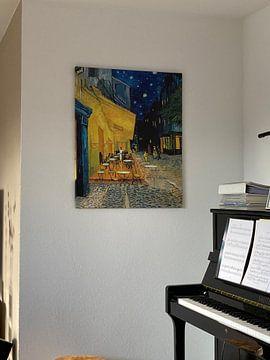 Klantfoto: Caféterras bij nacht van Vincent van Gogh