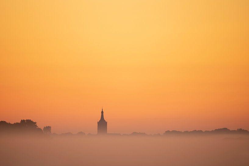 Hasselt (NL) before sunrise van Erik Veldkamp