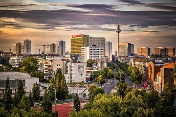 Berlijn in de avond van Munich Art Prints