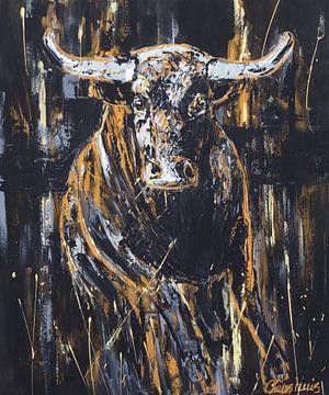 Stier von Vrolijk Schilderij