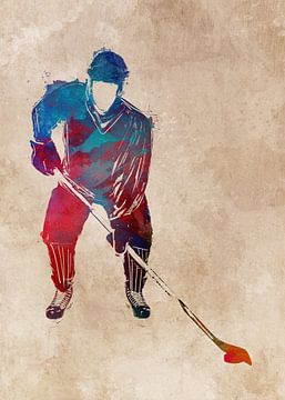 Hockeyspieler #Hockey #Sport von JBJart Justyna Jaszke