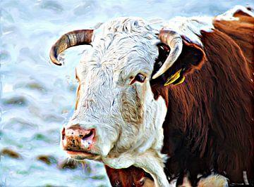 Paula - Kühe Kälber Rinder von Jean-Louis Glineur alias DeVerviers