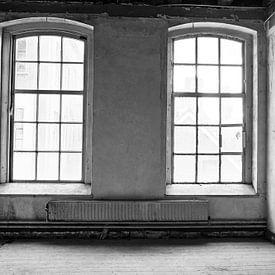 Intérieur d'un bâtiment scolaire abandonné sur Sjoerd van der Wal