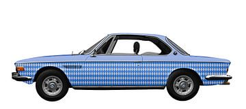 BMW 3.0 CSI in marineblauw van aRi F. Huber