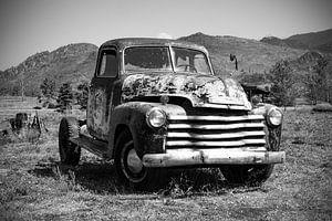 1951 Chevy pick-up in zwart/wit van Ton van Waard - Pro-Moois
