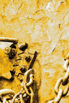 Minimalisme Kunst Fotografie Roestige Scheepswand Goud van Hendrik-Jan Kornelis
