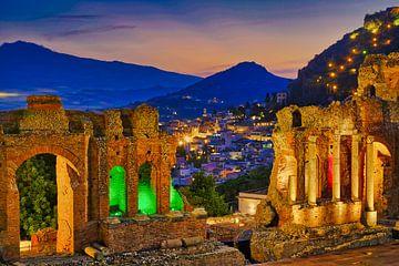 Grieks Theater Taormina Sicilië sur Niels  de Vries