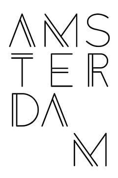 Amsterdam stadsmotief typefout van Kim Karol / Ohkimiko