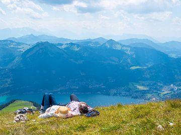 Tijd op de Schafberg in Salzkammergut van Animaflora PicsStock