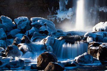 Öxarárfoss waterval (IJsland) sur Marcel Antons