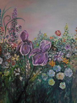 Iris Garden in Spring von Rhonda Clapprood