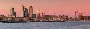 Panorama maashaven Rotterdam van