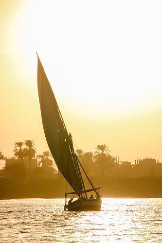 Felucca zeilboot op de Nijl