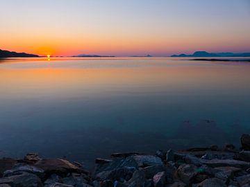 Minimalistische zonsondergang van