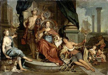 Allegorische voorstelling van de Amsterdamse Kamer van de Verenigde Oost-Indische Compagnie, Nicolaa