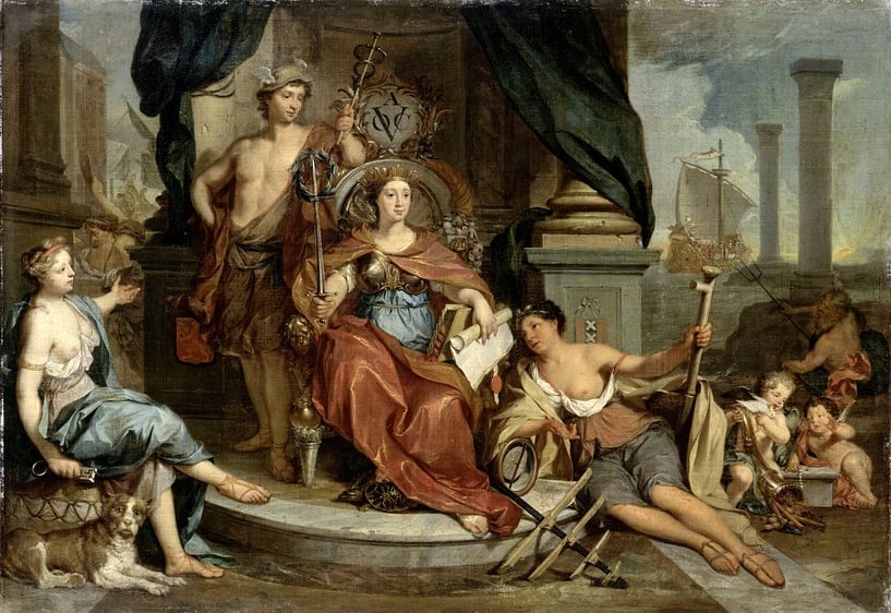 Apotheosis of the Dutch East India Company (Allegory of the Amsterdam Chamber of Commerce of the VOC von Meesterlijcke Meesters