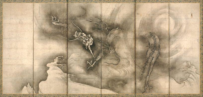 Sesson Shūkei. Dragon and Tiger van 1000 Schilderijen