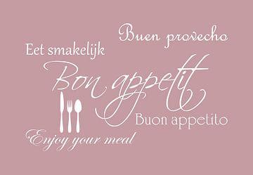 Bon appetit - Roze van Sandra Hazes