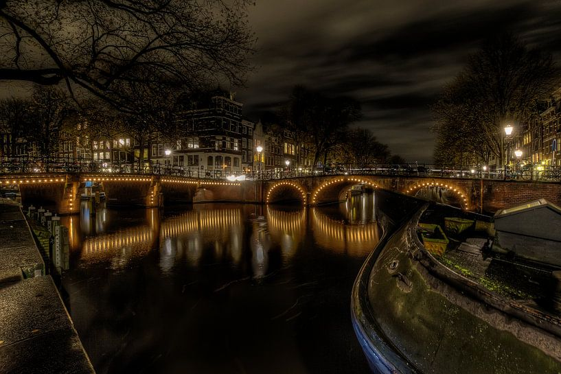 Amsterdamse grachten van Eus Driessen