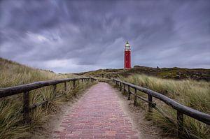 Leuchtturm von Texel, aktuelle Luft. von Justin Sinner Pictures ( Fotograaf op Texel)
